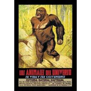 Paper poster printed on 20 x 30 stock. Los Animales del