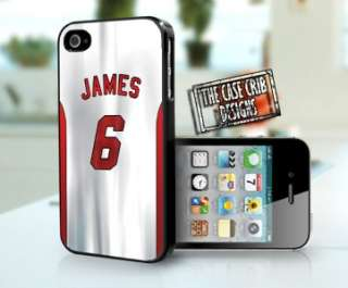 Lebron James Miami Heat iPhone 4 4s Hard Plastic Case/Cover jersey
