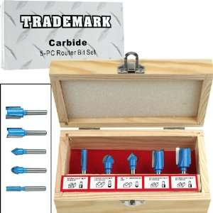 Trademark Tools Carbide Router Bit Set   5 pc. Automotive
