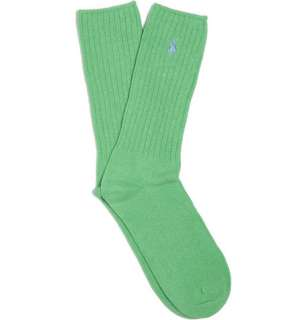 Accessories  Socks  Casual socks  Ribbed Cotton Blend Socks