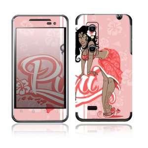 3D / Thrill 4G Decal Skin Sticker   Puni Doll Pink