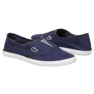 Womens Lacoste Solano Slip Dark Blue/White Shoes