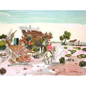 La Cabane Gardiane by Yves Brayer, 26x20 Home & Kitchen