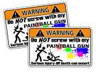 Paintball Paint Ball Warning Sticker Decal Gun Hooper