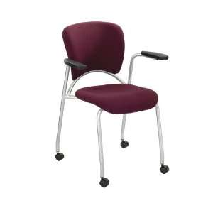 Groove® Guest Chair   3478BG   Color: Burgundy   Dimensions