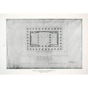 Henry Bacon Architecture Lincoln Memorial Blueprint Washington DC