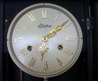 Linden 31 Day Mechanical Movement Wall Clock Gold & Silver Dial