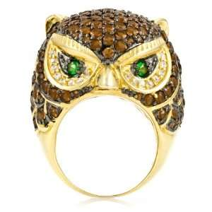 Olivers Owl Cocktail Ring   Sterling Silver Emitations Jewelry