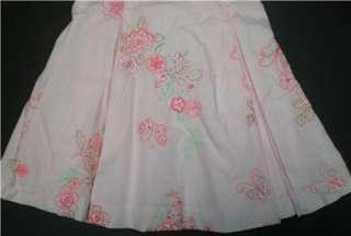 Tropical Dress pink tank 18M baby girls flowers wedding