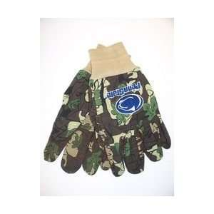 Penn State Nittany Lions Work Gloves Camo: Sports
