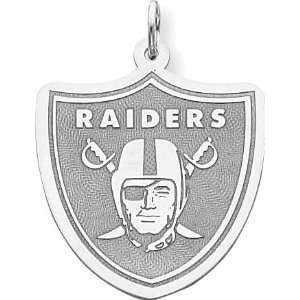 Sterling Silver NFL Oakland Raiders Logo Charm: Jewelry