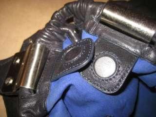 KENNETH COLE Black Leather Tote Slim Shopper Shoulder Purse Satchel