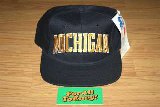 Vintage Michigan Wolverines Starter wool snapback hat NWT Go Blue NCAA