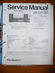 Service Manual Technics ST CA1060 Tuner,ORIGINAL