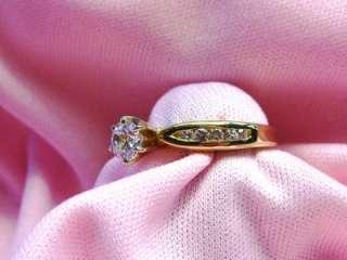 ladies 14k yellow gold diamond channel set mounting .20ct ring