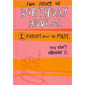 Humor Birthday Greeting Card Advice Health