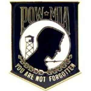 POW MIA You Are Not Forgotten Pin Black 1