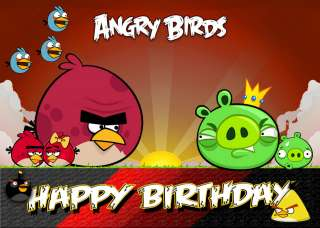 284 Personalised Birthday Card Angry Birds Son Daughter Sister Brother
