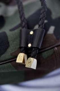 MICHAEL KORS Camouflage Canvas+Woven Leather Hobo Handbag Shoulder Bag