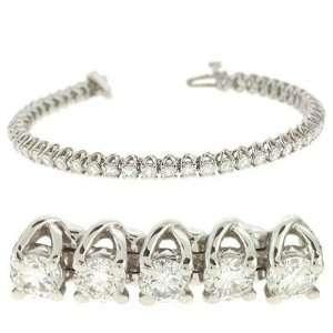 14k White Gold Diamond Tennis Bracelet   JewelryWeb Jewelry