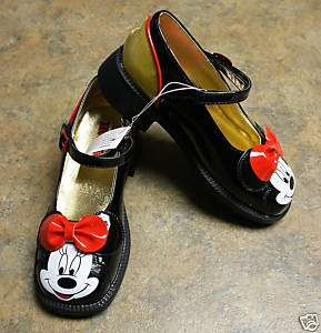 New Disney MINNIE MOUSE Costume Black Shoes Girls 2/3