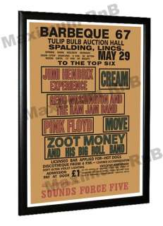 23 x 16 Hendrix Pink Floyd Cream Concert Poster 1967