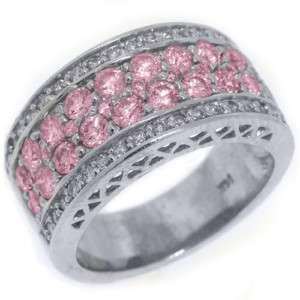 SAPPHIRE DIAMOND RING WEDDING BAND 2.76 CARAT ROUND CUT WHITE GOLD
