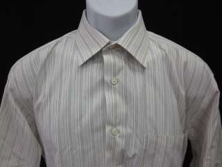 IKE BEHAR Mens Stripe Button Front Shirt Top Sz 16