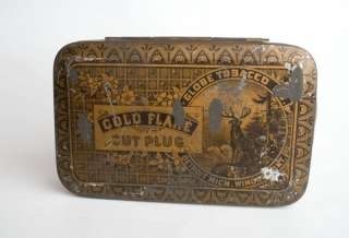 Rare Golden Flake Cut Plug Tobacco Tin