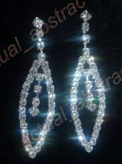 wholesale 12pair Czech rhinestone crystal clear earring