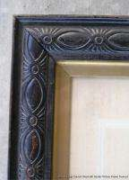 Antique Large Carved Wood Picture Frame with Gilt Border