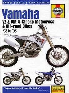 HAYNES MANUAL 2689 YAMAHA YZ250F WR250F YZ400F WR400F