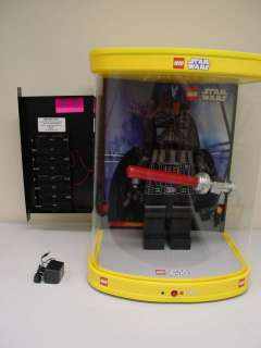 RARE 19 inch Minifig LEGO Star Wars Darth Vader Store Lighted Moving