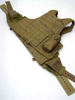 US Molle Combat Strike Plate Carrier Vest Coyote Brown