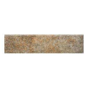MARAZZI Granite 12 In. X 3 In. Marron Glazed Porcelain Floor and Wall