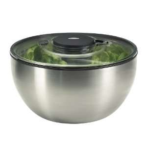 SALAD SPINNER STEEL oxo GOOD GRIPs Edelstahl Salatschleuder, GROSS