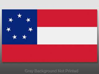 Confederate NATIONAL Flag Sticker   decal decals flags