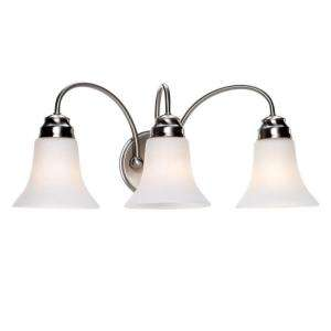 Commercial Electric Brushed Nickel 3 Light Vanity  DISCONTINUED