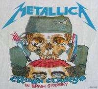 METALLICA Vintage Concert SHIRT 80s TOUR T RARE ORIGINAL PUSHEAD