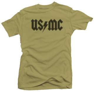 USMC Rock US Marine Corps Funny Parody T shirt