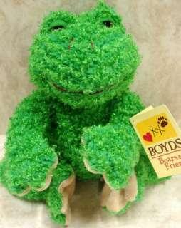 BOYDS BEARS Jeremiah B Ezra R Ribbit PLUSH Frog POND