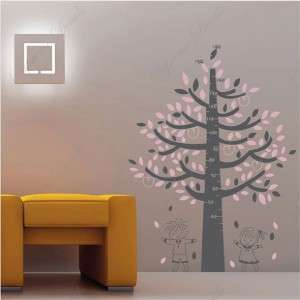 Tree for height measuring removable vinyl wall decals