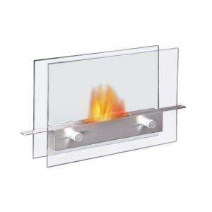 Anywhere Fireplace Metropolitan Stainless Steel and Tempered Glass