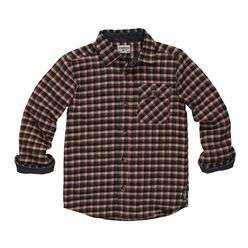 NWT Big Boys OshKosh Orange Plaid Flannel Work Shirt   Was $30.00