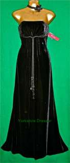 BN MONSOON Black Velvet QUEENIE Long Evening Maxi Dress