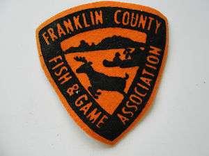 FRANKLIN COUNTY FISH & GAME ASSOCIATION,OLD VINTAGE FELT,HUNT,FISH