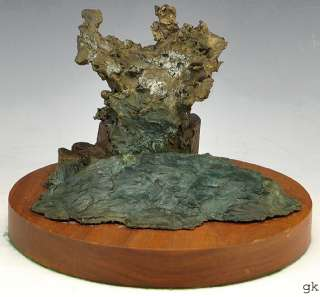 Lovely Modern Bronze Art Sculpture Moses Burning Bush? 1986