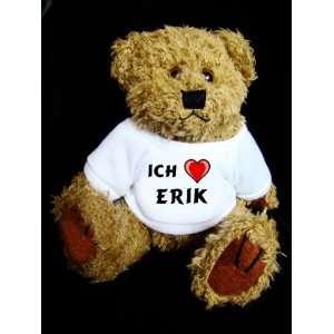 Teddy Bear mit Ich liebe Erik t shirt  Spielzeug