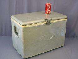 Vintage Aluminum Ice Chest Cooler Beer Pop Camping Beach Party Great