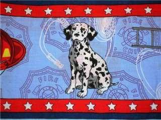 New Fireman Fabric BTY Fire Truck Hose Hat Man Hydrant Dalmation Dog